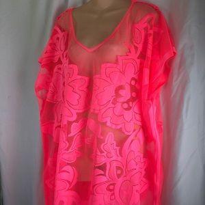 Neon Pink Swimsuit Coverup L/XL Xhilaration